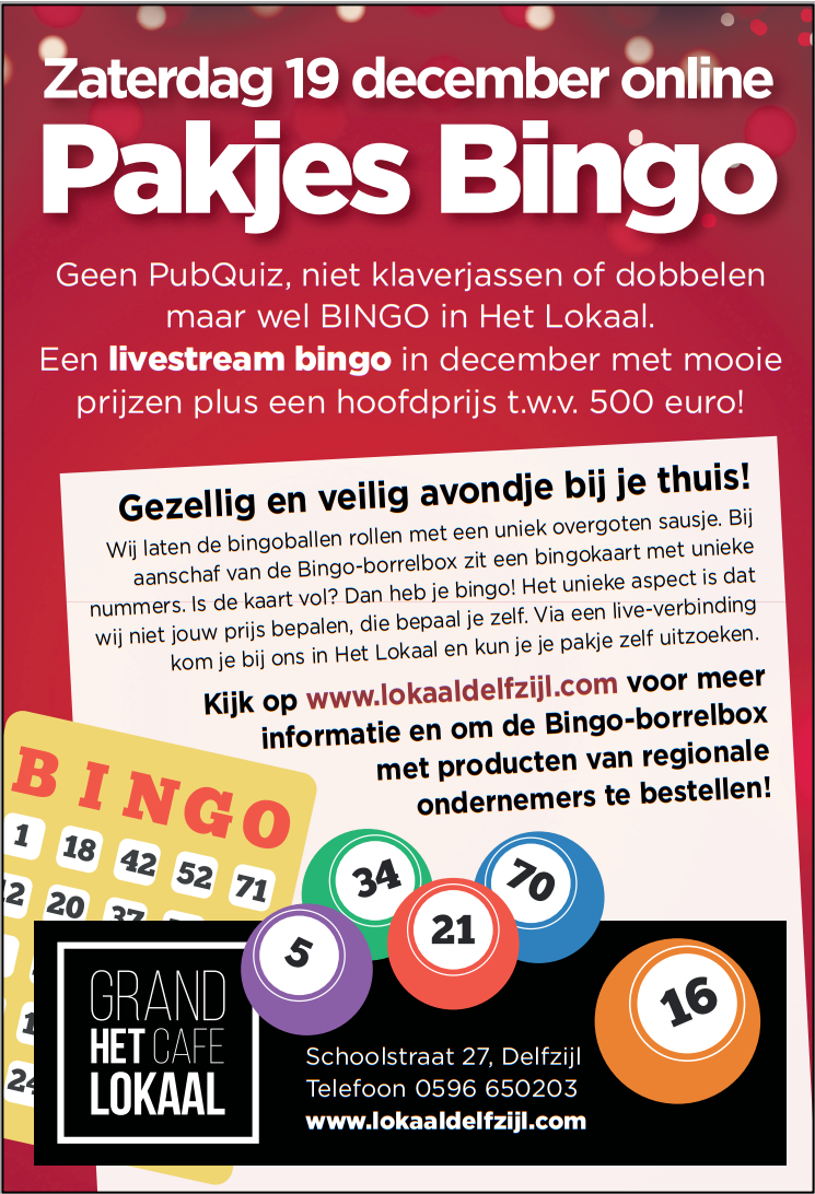 Bingo Grand Cafe het Lokaal