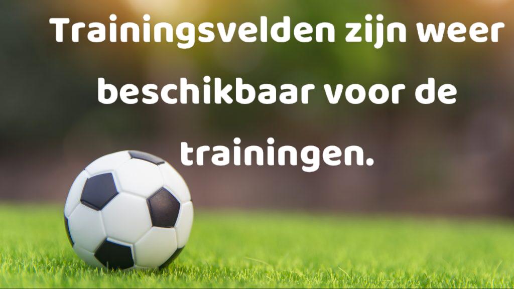 Trainingen kunnen worden hervat.
